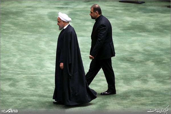 حضور رئیس جمهور در صحن علنی مجلس