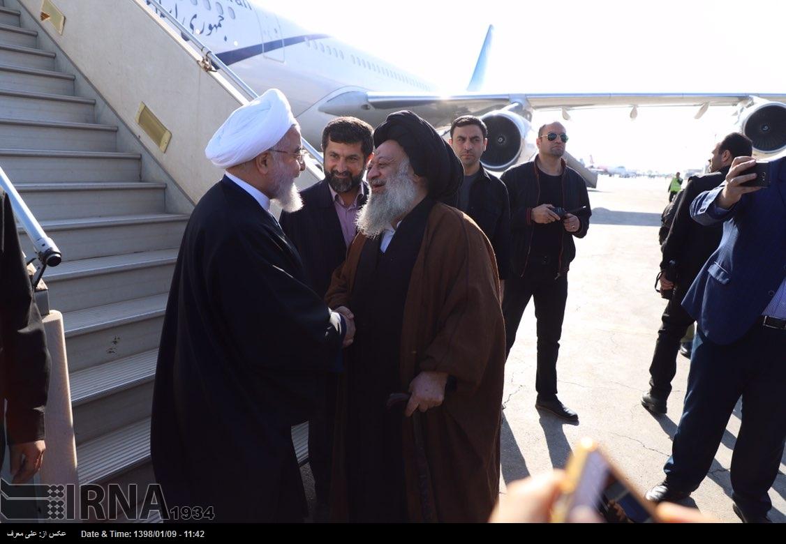 گزارش تصویری/ استقبال از رئیس جمهور در فرودگاه اهواز