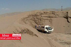 برداشت کنندگان متخلف معدنی در امیدیه بازداشت شدند